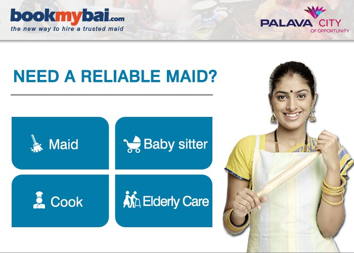 Hire maid, baby sitter, nanny, cook, senior citizen care in